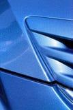 Blue hood Stock Image