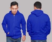 Blue Hoodie Mock up Stock Photo