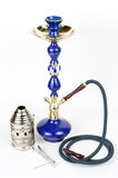 Blue hookah with accessories Stock Photos