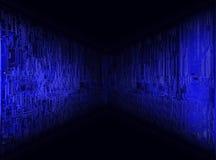 Blue horizon. Electronic circuit board patern royalty free stock photography