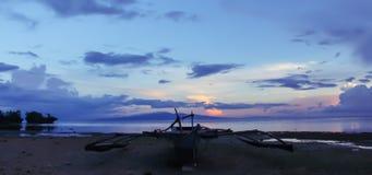 Blue horizon royalty free stock photo
