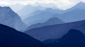 Blue horizons - Dolomiti Italy Royalty Free Stock Photos