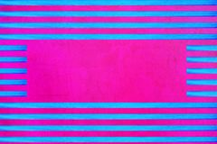 Blue horizontal lines stripes on a pink background stock illustration