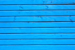 Blue horizontal planks Stock Images