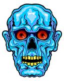 Blue horror face Stock Photo