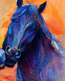 Blue horse Royalty Free Stock Image