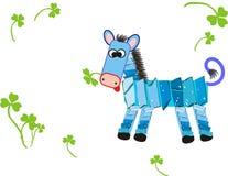Blue horse Stock Image