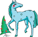 Blue horse Stock Images