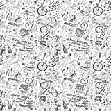 Blue horse new year - seamless background. Blue horse new year - seamless pattern with icons Stock Photography