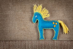 Blue horse toy with stars Royalty Free Stock Image