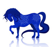 Blue horse. Vector illustration of blue horse Royalty Free Stock Photo