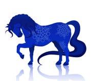 Blue horse Royalty Free Stock Photo