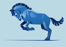 Blue horse, vector Stock Photography