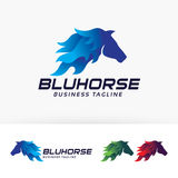 Blue Horse vector logo design. Animal, horse, horse racing vector logo template Stock Photo