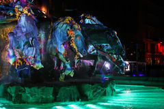 Blue horses and green waters on Bartholdi Fountain Stock Photography