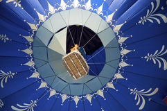 Blue hot air ballon royalty free stock images