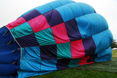 Blue Hot air balloon Stock Images