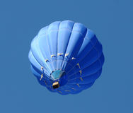 Blue hot air balloon Stock Photography