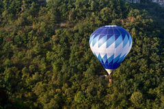 Blue hot air balloon Stock Photos