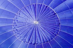 Blue Hot Air Balloon Close Up. Stock Images
