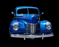 Blue Hot rod. Blue Classic car Royalty Free Stock Images