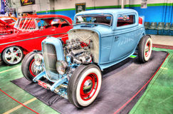 Blue hot rod Stock Images