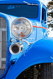 Blue Hot Rod in vertical format Stock Images