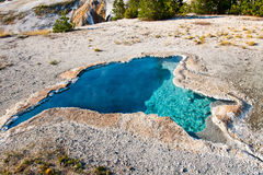 Blue Hot Spring Pool in Yellowstone National Park,USA Stock Photo
