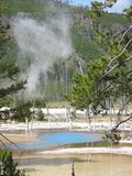 Blue hot spring Royalty Free Stock Photo