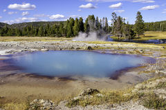 Blue Hot Spring stock images