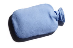 Blue hot water bottle Royalty Free Stock Photos