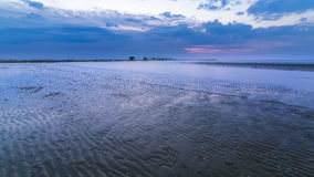 blue hour on Adriatic Sea Stock Photography