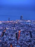 Blue Hour in Barcelona Royalty Free Stock Photo