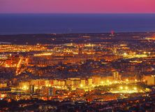 Blue Hour in Barcelona Royalty Free Stock Image