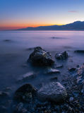 Blue Hour at The Beach Royalty Free Stock Photo