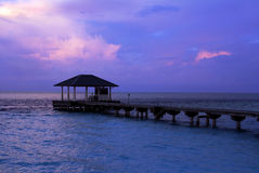 The blue hour on the Maldives Royalty Free Stock Photo