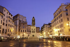 Blue hour Campo dei Fiori, Rome Royalty Free Stock Photography