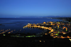 Blue hour at Castellammare del golfo Royalty Free Stock Photos