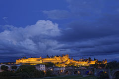 Blue hour on the citadel Stock Photography