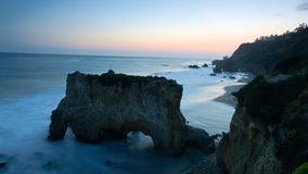 Blue hour el matador beach royalty free stock photography