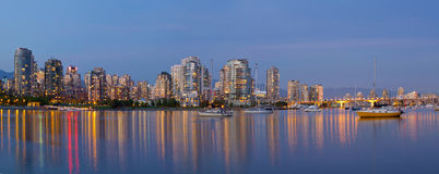 Blue Hour at False Creek Vancouver BC Canada Royalty Free Stock Photo