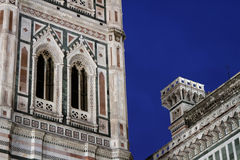 Blue hour on Florence Cathedral and Campanile Royalty Free Stock Image
