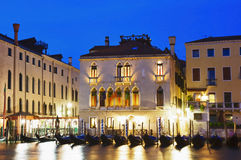 Blue hour at the Grand Canal with Gondola Royalty Free Stock Image