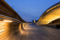 Blue Hour in Henderson Waves Stock Images