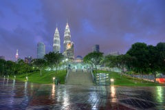 Blue Hour Of KLCC Royalty Free Stock Image