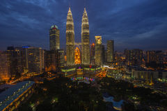 Blue hour of KLCC Stock Images