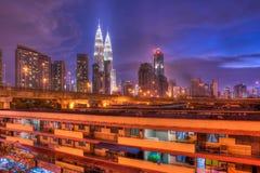 Blue Hour at Kuala Lumpur, Malaysia Stock Image