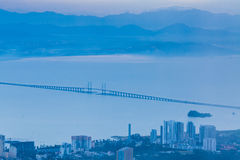 Blue hour landscape view Royalty Free Stock Image