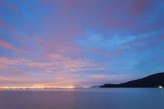 Blue hour landscape view Stock Image