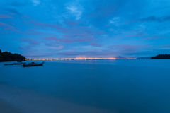 Blue hour landscape view Royalty Free Stock Photography